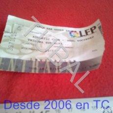 Coleccionismo deportivo: TUBAL ATHLETIC BILBAO ENTRADA LIGA 18 8 1996 REAL SOCIEDAD 6 1 B49. Lote 195290500