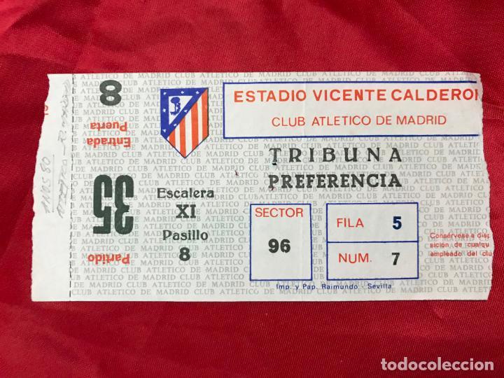 ENTRADA FUTBOL ESTADIO VICENTE CALDERON, ATLETICO DE MADRID - R. MADRID!!! - AÑOS 80 (Coleccionismo Deportivo - Documentos de Deportes - Entradas de Fútbol)