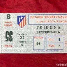 Coleccionismo deportivo: ENTRADA FUTBOL ESTADIO VICENTE CALDERON, ATLETICO DE MADRID - R. MADRID!!! - AÑOS 80. Lote 195330890