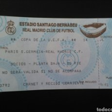 Coleccionismo deportivo: ENTRADA FUTBOL REAL MADRID PSG 1993 UEFA. Lote 195469632