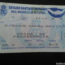 Coleccionismo deportivo: ENTRADA FUTBOL REAL MADRID NEUCHATEL 1991 UEFA. Lote 195469921