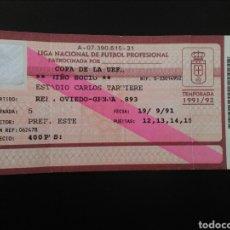 Coleccionismo deportivo: ENTRADA FUTBOL OVIEDO GÉNOVA 1991 UEFA. Lote 195470340