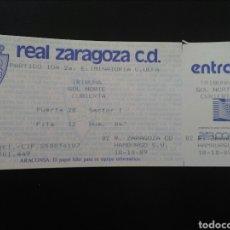 Coleccionismo deportivo: ENTRADA FUTBOL ZARAGOZA HAMBURGO 1989 UEFA. Lote 195470505