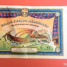 Coleccionismo deportivo: CLUB DE FUTBOL BARCELONA - INAUGURACIÓN DEL ESTADIO : 24 SEPTIEMBRE 1957 - SIN RECORTAR ,Nº: 03. Lote 195866031