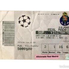 Coleccionismo deportivo: ENTRADA FÚTBOL.- ENTRADA REAL MADRID - OPORTO. CHAMPIONS LEAGUE. 1997/98.. Lote 196011983