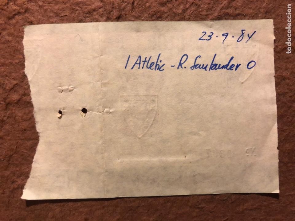 Coleccionismo deportivo: ATHLETIC CLUB BILBAO 1 - 0 RACING SANTANDER. ENTRADA PARTIDO TEMPORADA 1984/85. - Foto 2 - 196017818