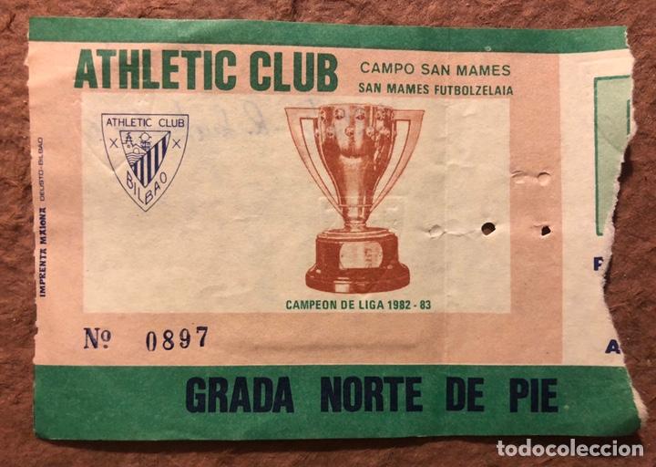 ATHLETIC CLUB BILBAO 1 - 0 RACING SANTANDER. ENTRADA PARTIDO TEMPORADA 1984/85. (Coleccionismo Deportivo - Documentos de Deportes - Entradas de Fútbol)