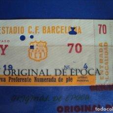 Coleccionismo deportivo: (F-66)ENTRADA RESERVA PREFERENTE NUMERADA DE PIE C.F.BARCELONA . Lote 196085608