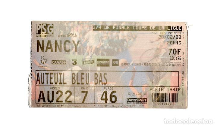 ENTRADA 1/4 FINAL COPA DE LA LEGUE 2000 (Coleccionismo Deportivo - Documentos de Deportes - Entradas de Fútbol)