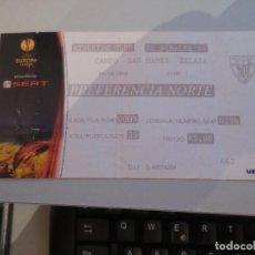 Coleccionismo deportivo: ENTRADA FUTBOL. ATHLETIC DE BILBAO SCHALKE 2012. Lote 199181172