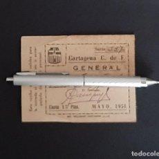 Coleccionismo deportivo: CARTAGENA C. F. ENTRADA ABONO FUTBOL MAYO DE 1951. Lote 199782595