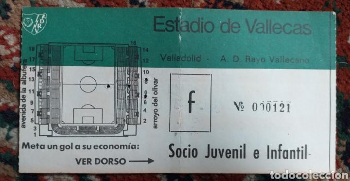 ENTRADA TICKET RAYO VALLECANO VALLADOLID AÑOS 70 (Coleccionismo Deportivo - Documentos de Deportes - Entradas de Fútbol)