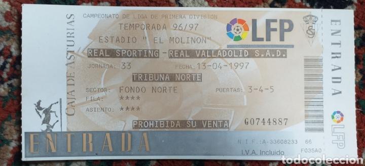 ENTRADA TICKET SPORTING GIJON VALLADOLID 96 97 (Coleccionismo Deportivo - Documentos de Deportes - Entradas de Fútbol)