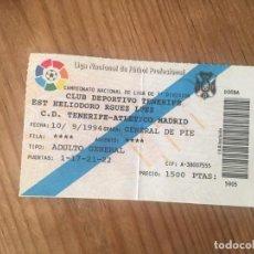 Coleccionismo deportivo: R9167 ENTRADA TICKET FUTBOL TENERIFE ATLETICO MADRID LIGA TEMPORADA 1994 1995. Lote 201157271