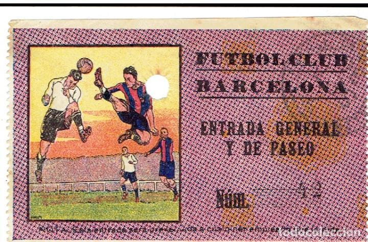 ANTIGUA ENTRADA FUTBOL CLUB BARCELONA AÑOS 20 (Coleccionismo Deportivo - Documentos de Deportes - Entradas de Fútbol)