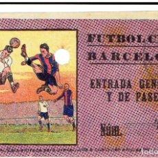 Coleccionismo deportivo: ANTIGUA ENTRADA FUTBOL CLUB BARCELONA AÑOS 20. Lote 201668178