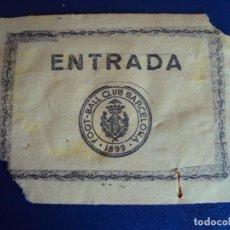 Coleccionismo deportivo: (F-240)ANTIGUA ENTRADA F.C.BARCELONA FOOT-BALL. Lote 201710817