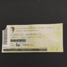 Coleccionismo deportivo: ENTRADA CADIZ CF-GRANADA 74. Lote 202272403
