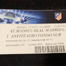 Colecionismo desportivo: ENTRADA TICKET UEFA CHAMPIONS LEAGUE ATLÉTICO MADRID VS REAL MADRID 2015. Lote 202907351
