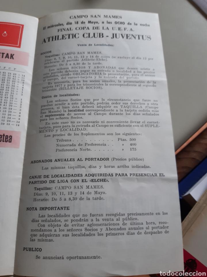 Coleccionismo deportivo: Programa oficial partido futbol Athletic Bilbao Elche C.F. temporada 1976-77 - Foto 2 - 202953593