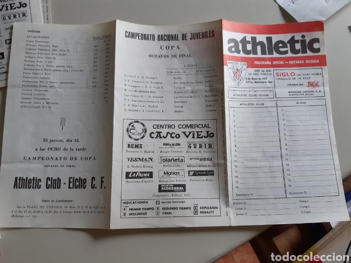 Coleccionismo deportivo: Programa oficial partido futbol Athletic Bilbao Elche C.F. temporada 1976-77 - Foto 3 - 202953593