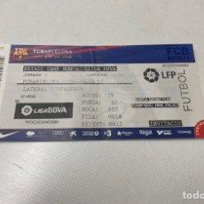 Coleccionismo deportivo: ENTRADA FC BARCELONA-VALENCIA DE LIGA TEMPORADA 2012/2013. Lote 203392582