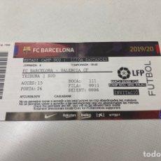 Coleccionismo deportivo: ENTRADA FC BARCELONA-VALENCIA LIGA, TEMPORADA 2019/2020. Lote 203392770