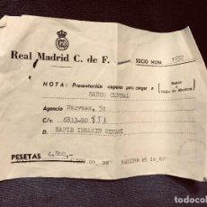 Coleccionismo deportivo: REAL MADRID CLUB DE FUTBOL SOCIO NUM 1652 CUPONES BANCO CENTRAL JULIO A DICIEMBRE 1980. Lote 203561418