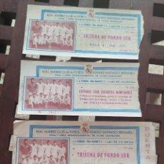 Coleccionismo deportivo: 4 ENTRADAS REAL MADRID FINAL COPA INTERNACIONAL 1960 TRIBUNA ASIENTOS NUMERADOS. Lote 204764237