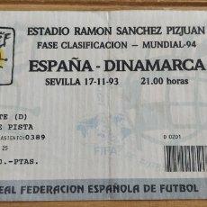 Coleccionismo deportivo: ENTRADA ESPAÑA-DINAMARCA 17-11-93. Lote 205682655