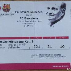 Coleccionismo deportivo: ENTRADA ULI HOENEES CUP BAYERN MUNICH-FC BARCELONA 2013. Lote 205693755
