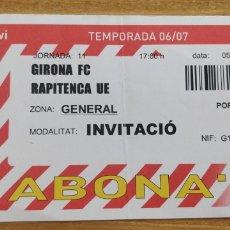 Coleccionismo deportivo: ENTRADA GIRONA FC-RAPITENCA UE 2006. Lote 205697526