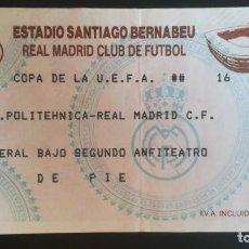 Coleccionismo deportivo: ENTRADA REAL MADRID POLITÉHNICA TIMISOARA RUMANÍA UEFA 1992 1993 1 RONDA TICKET FOOTBALL BERNABEU. Lote 205706838