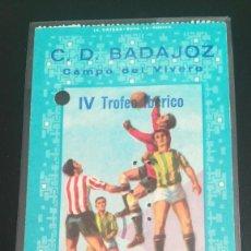 Coleccionismo deportivo: ENTRADA FUTBOL IV TROFEO IBÉRICO 1970 ESPANYOL 7 BARREIRENSE 1 EL VIVERO TICKET FOOTBALL SEMIFINAL. Lote 205720633