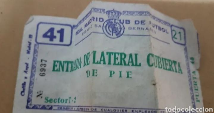ANTIGUA ENTRADA REAL MADRID (Coleccionismo Deportivo - Documentos de Deportes - Entradas de Fútbol)