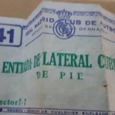 Coleccionismo deportivo: ANTIGUA ENTRADA REAL MADRID. Lote 205753703