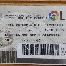 Coleccionismo deportivo: ENTRADA FC BARCELONA- REAL OVIEDO 1995-96. Lote 205812491