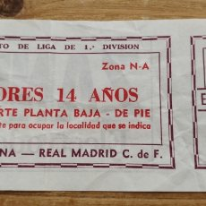 Coleccionismo deportivo: ENTRADA LIGA REAL MADRID-FC BARCELONA. Lote 205815728