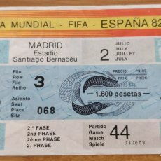 Coleccionismo deportivo: ENTRADA ESPAÑA-ALEMANIA MUNDIAL ESPAÑA 82. Lote 205817482