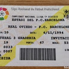 Coleccionismo deportivo: ENTRADA FC BARCELONA -REAL OVIEDO 1994-95. Lote 205812178