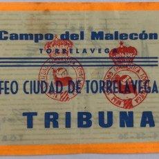 Coleccionismo deportivo: I TROFEO CIUDAD DE TORRELAVEGA - REAL SOCIEDAD GIMNASTICA - ENTRADA. Lote 205820363