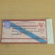 Coleccionismo deportivo: MARADONA DEBUT SEVILLA CF BAYERN MUNICH 28-9-1992 ENTRADA. Lote 206193411