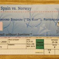 Colecionismo desportivo: ENTRADA ESPAÑA-NORUEGA 13/06/2000 EUROCOPA 2000. Lote 206374382
