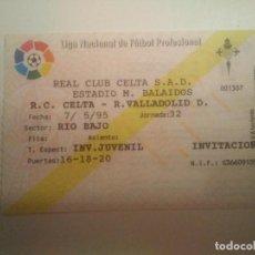 Coleccionismo deportivo: ENTRADA R.C. CELTA-VALLADOLID D 94/95. Lote 206406668