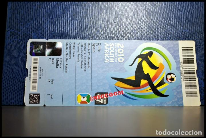 ENTRADA TICKET WORLD CUP SOUTH AFRICA 2010 SPAIN CHILE VS ESPAÑA MATCH 47 (Coleccionismo Deportivo - Documentos de Deportes - Entradas de Fútbol)