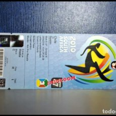 Coleccionismo deportivo: ENTRADA TICKET WORLD CUP SOUTH AFRICA 2010 SPAIN CHILE VS ESPAÑA MATCH 47. Lote 206429585