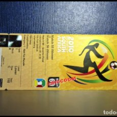Coleccionismo deportivo: ENTRADA TICKET WORLD CUP SOUTH AFRICA 2010 SPAIN PARAGUAY VS ESPAÑA MATCH 60. Lote 206429875