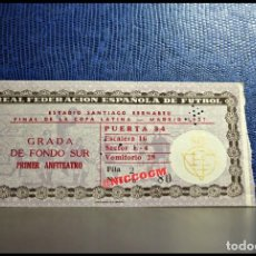 Coleccionismo deportivo: ENTRADA TICKET PASE REAL MADRID VS BENFICA FINAL COPA LATINA 23 - 06 - 1957. Lote 206460451