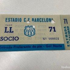 Coleccionismo deportivo: ENTRADA FCBARCELONA-SANTOS DE PELE 12/06/1963. Lote 206486605