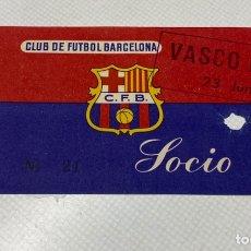 Coleccionismo deportivo: ENTRADA FC BARCELONA-VASCO DA GAMA 23-06-1957. Lote 206486873